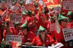 Nurses Lead Thousands In Chicago Anti-NATO March